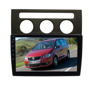 Штатная магнитола для Volkswagen Touran 2003-2010 гг. (с климат контролем) LeTrun 4084-4463 10 дюймов VT Android 10 MTK-L 2+16 Gb ASP ++