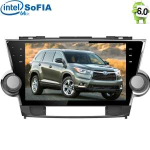 Штатная магнитола Toyota Highlander LeTrun 2084  Intel Android 6.0.1 экран 10,2 дюйма