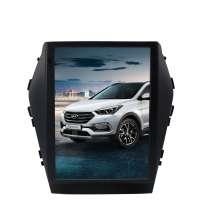 Штатная магнитола Hyundai IX45/Santa Fe 2014-2017 LeTrun 3284 KLD Android 9 экран 10 дюймов Tesla 4+32 6 ядер ++
