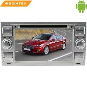 Штатная магнитола Ford Focus 2, Fusion, Kuga, C-MAX цвет серебро LeTrun 1508 KD Android 6.x MTK 4G