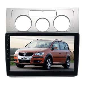 Штатная магнитола для Volkswagen Touran 2003-2010 гг. (без климат контроля) LeTrun 4106-4463 10 дюймов VT Android 10 MTK-L 2+16 Gb ASP ++