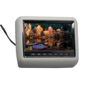 Навесной монитор на подголовник 7 дюймов LeTrun 1293 DVD-SD-USB серый
