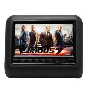 Навесной монитор на подголовник 7 дюймов LeTrun 1295 DVD-SD-USB черный